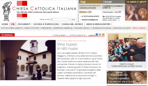 L'année de la Vie Consacrée sur le site de l'Église italienne